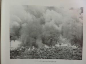 二千六百年植林地開墾焼払作業
